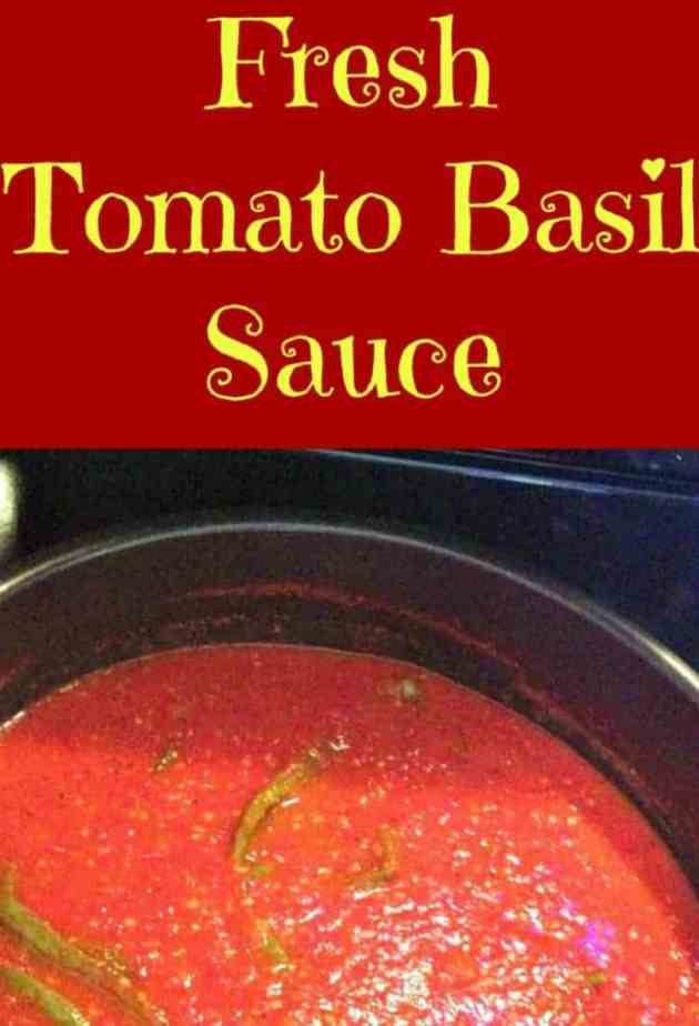 Quick and Easy Fresh Tomato Basil Sauce - Goes with anything and great ...