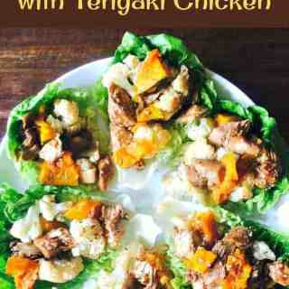 Spiced Baked Cauliflower and Pumpkin with Teriyaki Chicken. This is a ...