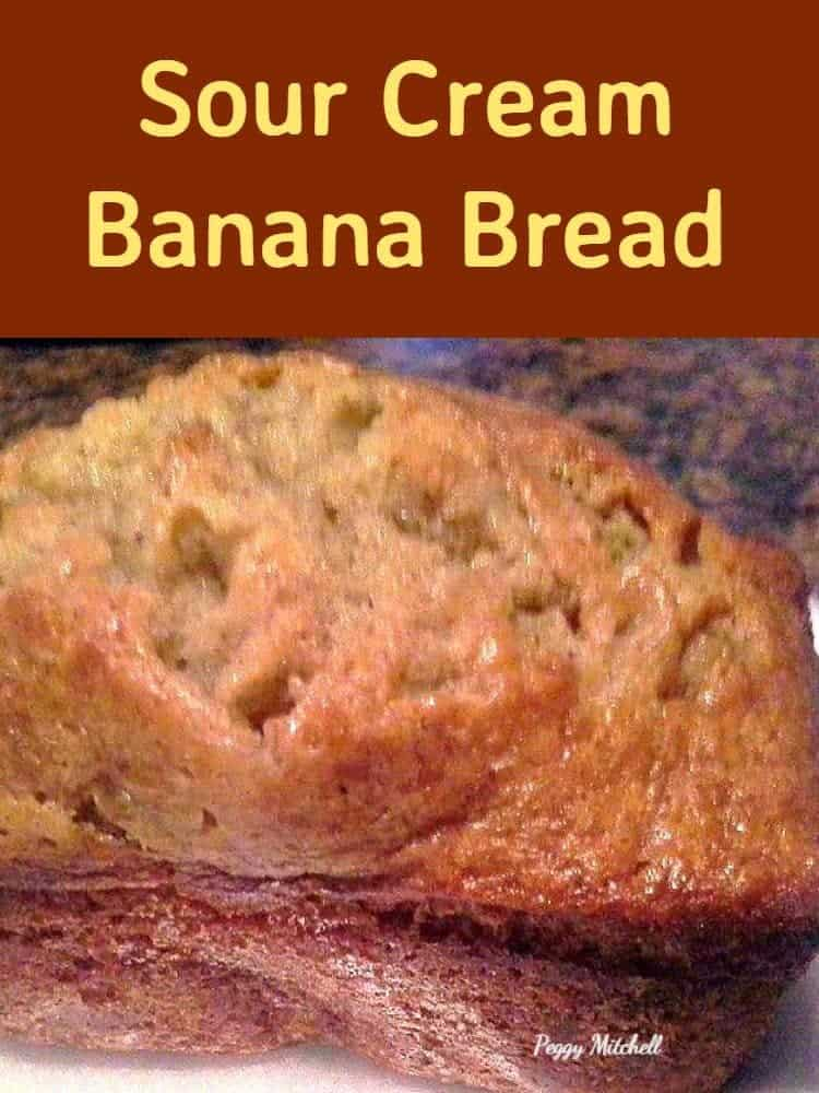 Sour Cream Banana Bread. Soft and delicious cake using sour cream and ...