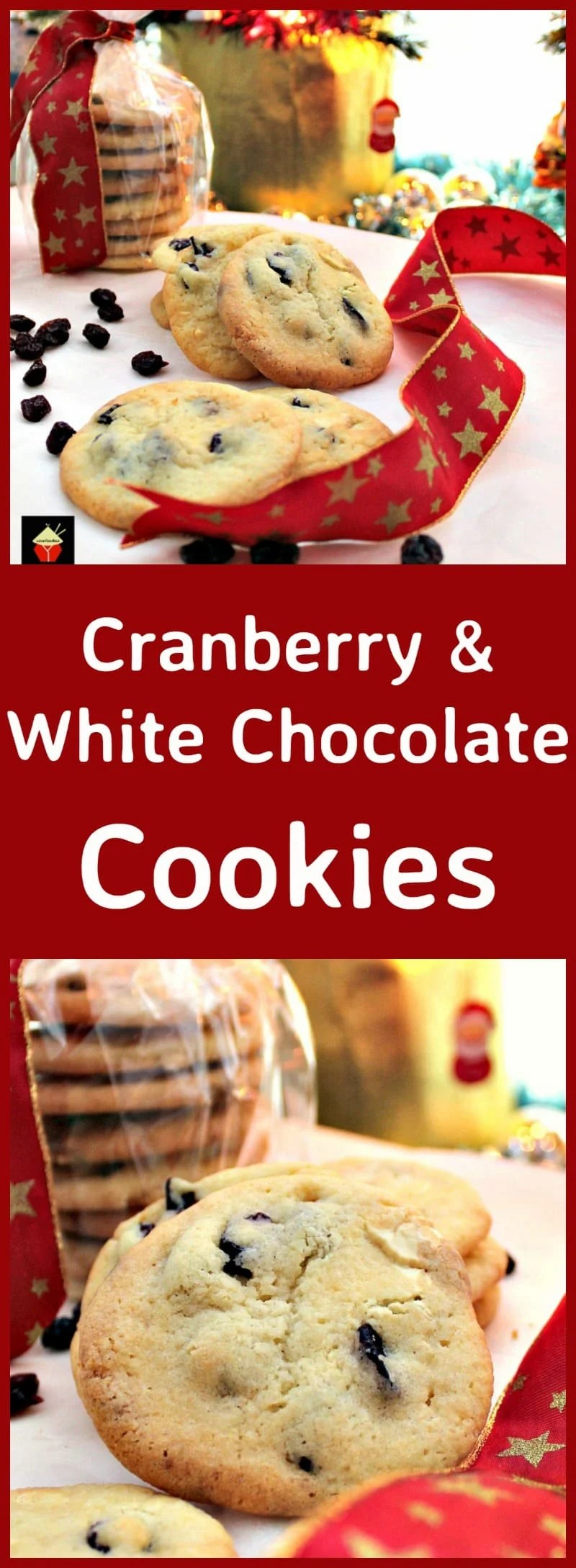 Cranberry and White Chocolate Cookies. A lovely easy recipe and great ...