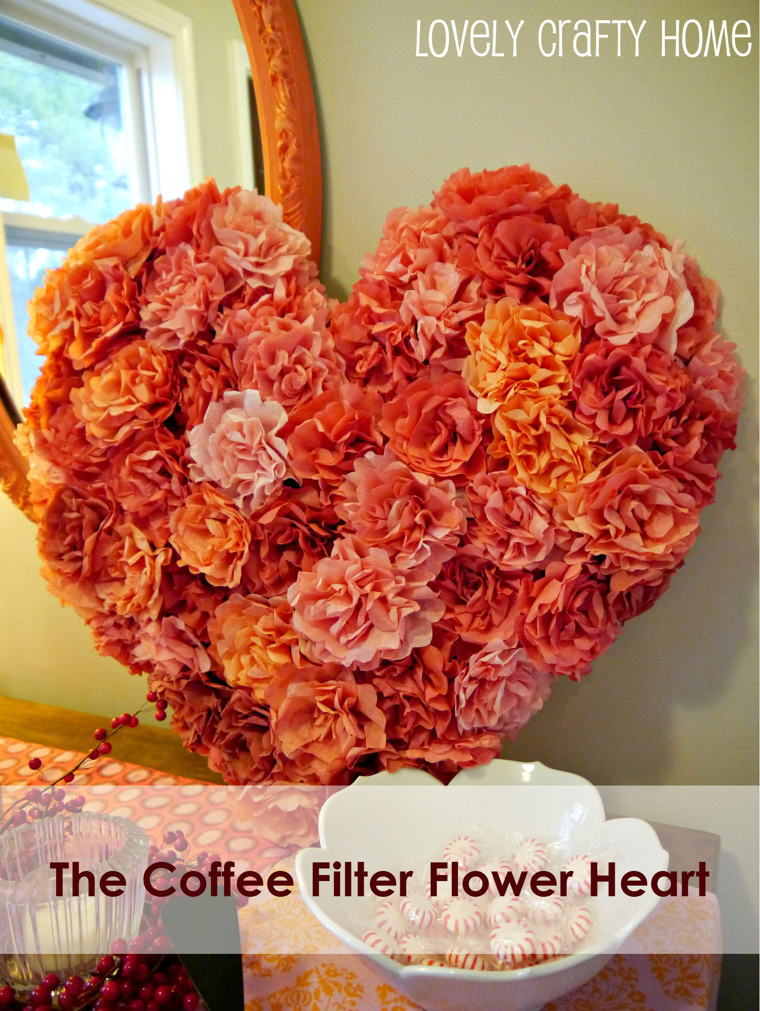 TutorialCoffee Filter Flowers and Valentines Decor