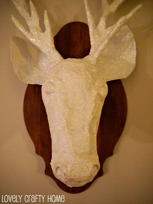 glitter stag head taxidermy -1