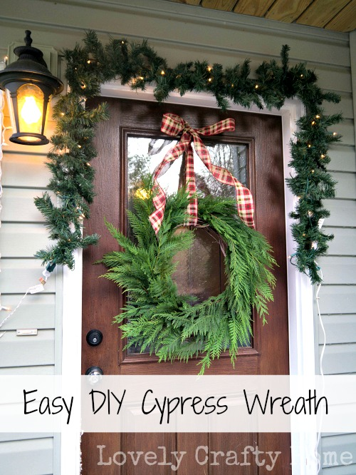 diy cypress wreath