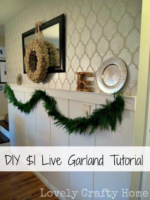 diy live garland swag tutorial