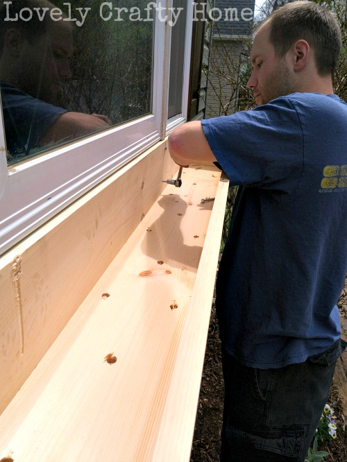 hanging the window box