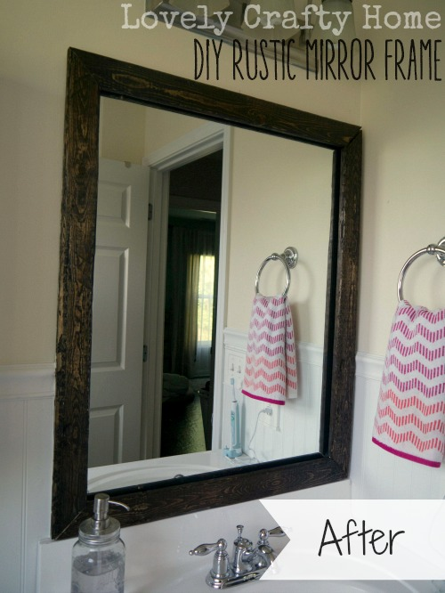 diy rustic mirror frame removable and damage free - Diy Rustic Picture Frame