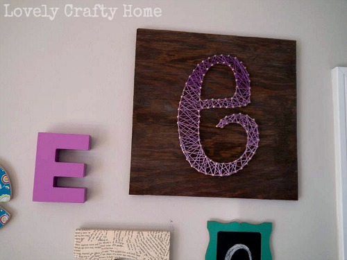 String Art - The Letter E