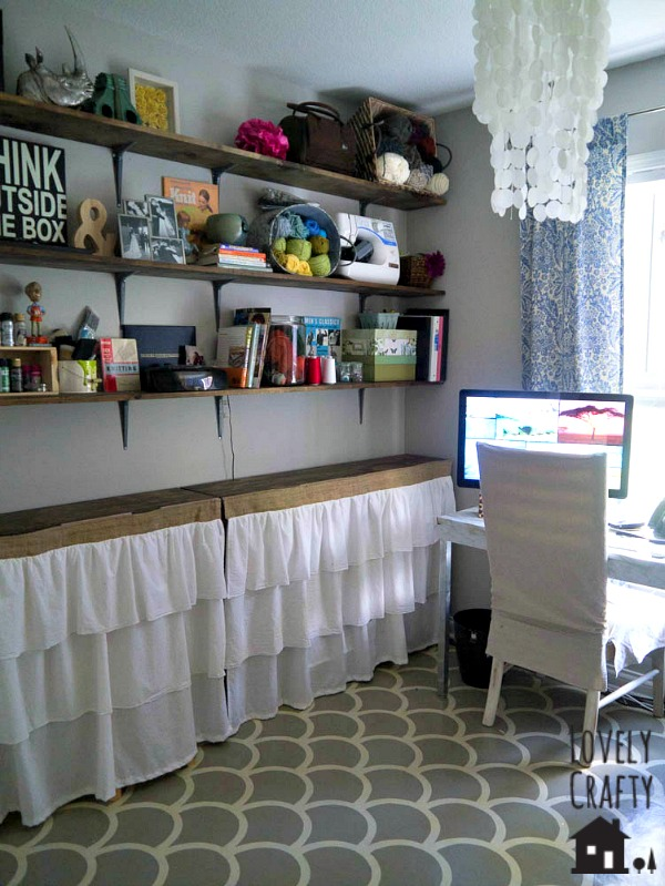 Craft Room Open Shelving