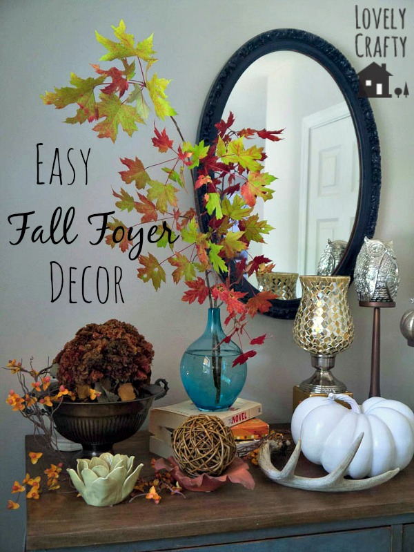 Easy Fall Foyer Decor