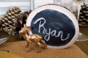 Chalkboard Place Cards - Birch and Deer