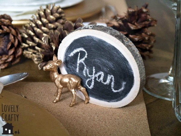 DIY Birch Place Cards