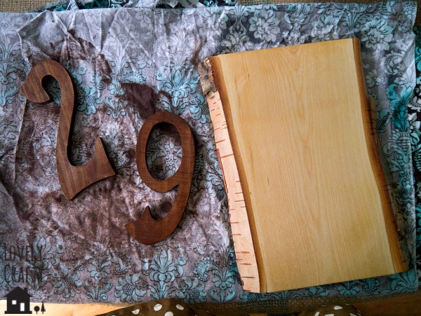 DIY Rustic Address Sign