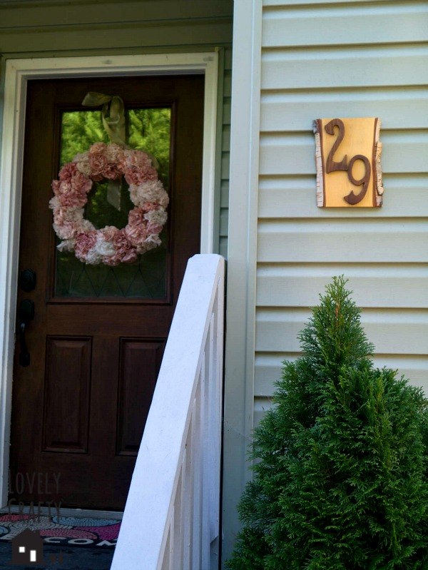 Rustic Address Sign DIY