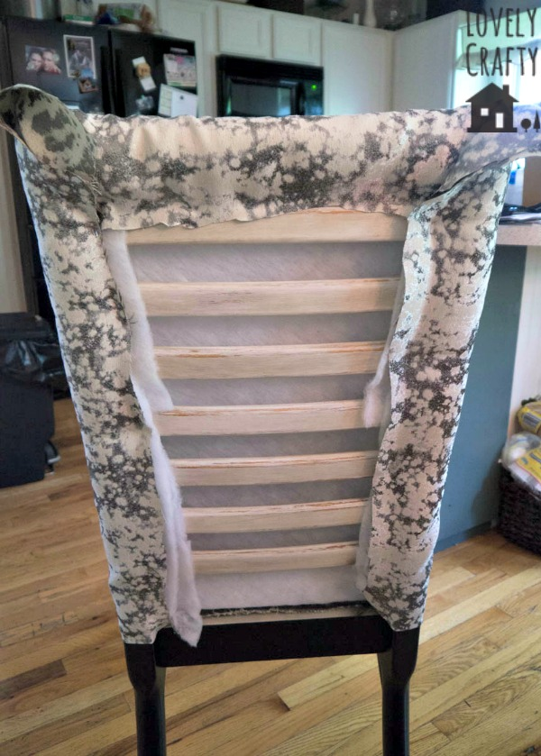 Fabric covered ladder back