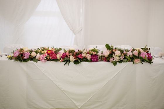 Top table flower display...
