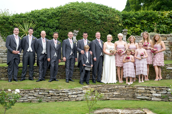 The Bridesmaids and Groomsmen....