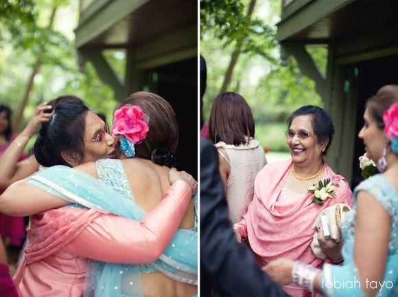 A Beautiful Indian Bride In Blue