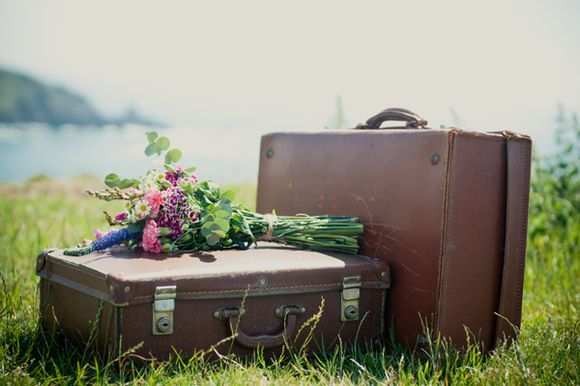 A Vintage Engagement Shoot ~ Sun, Sea & Suitcases... (Proposals + Engagements Weddings )
