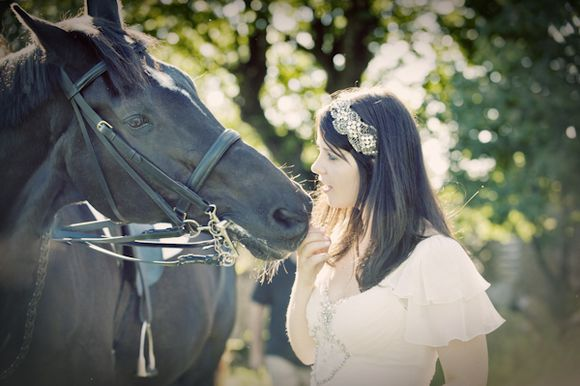 Cherish The Horse? ~ A Post-Wedding Photoshoot With a Difference... (Weddings )