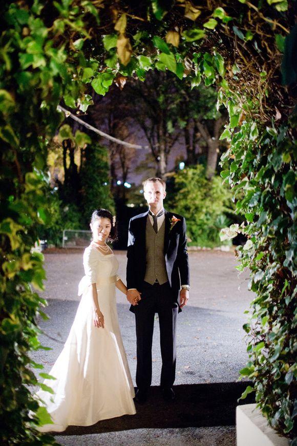 A 1960s Vintage Wedding Dress and Parisian Chic Wedding Celebration... (Weddings )
