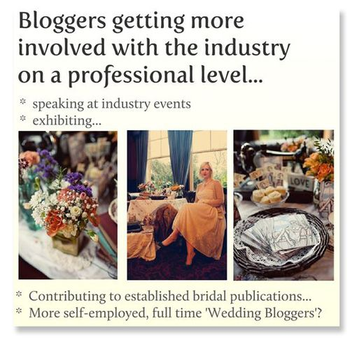 Screenshot from my presentation on the Role of Wedding Blogs...