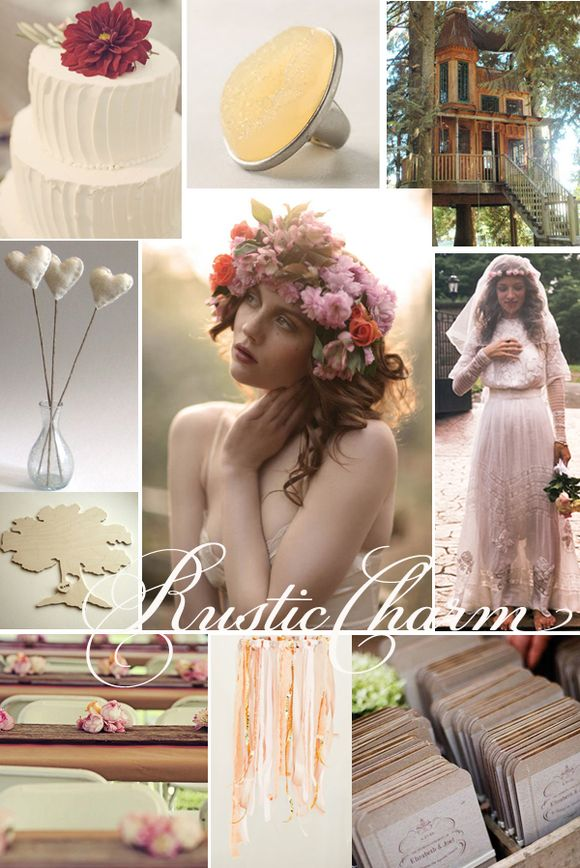 Bridal Inspiration Boards #5 ~ Rustic Charm... (Mood + Inspiration Boards )