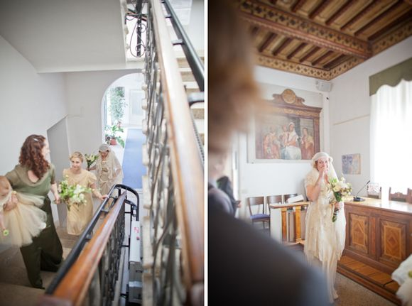 A Juliet Cap Veil & A DIY Wedding Dress for an Italian Love Affair... (Weddings )