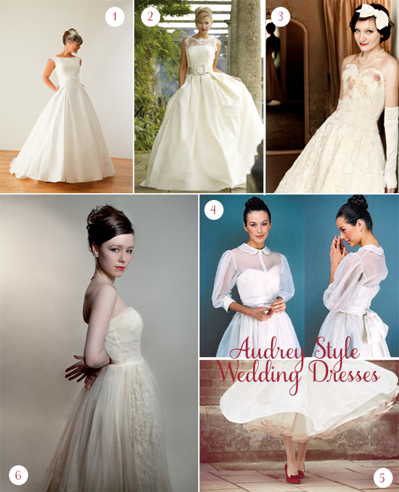 Bridal inspiration board 26 audrey hepburn love my for Audrey hepburn inspired wedding dress