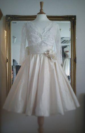 Time For Tea ~ Tea Length Wedding Dresses by Independent Dress Designer, Joanne Fleming... (Bridal Fashion )