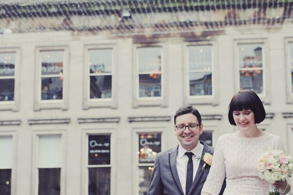 White Tights and Peach Pretty ~ A 1960s Inspired Private Members Club Wedding... ()