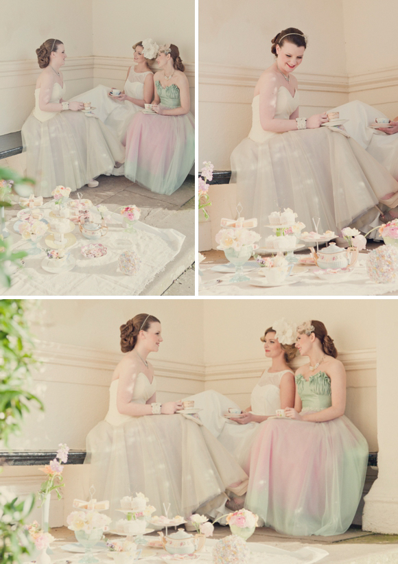 Shades of Pastel Pretty for a Downton Abbey Inspired Photoshoot... (Styled Shoots )