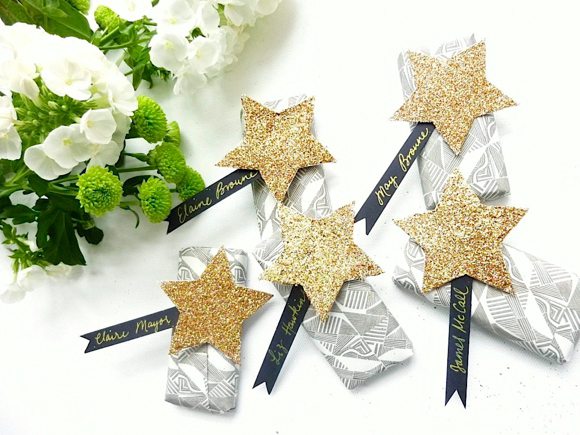 How To Create Your Own Glitter Star Favour Wraps... (DIY Projects )
