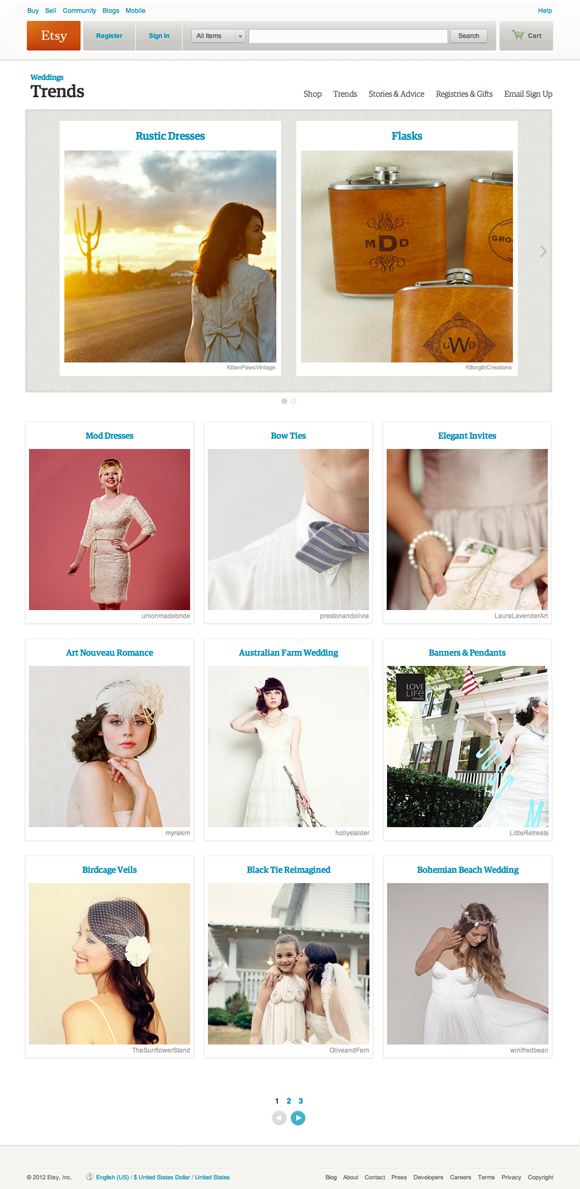 A Marriage Made on Etsy ~ 'Etsy Weddings' is Launched... (Weddings )