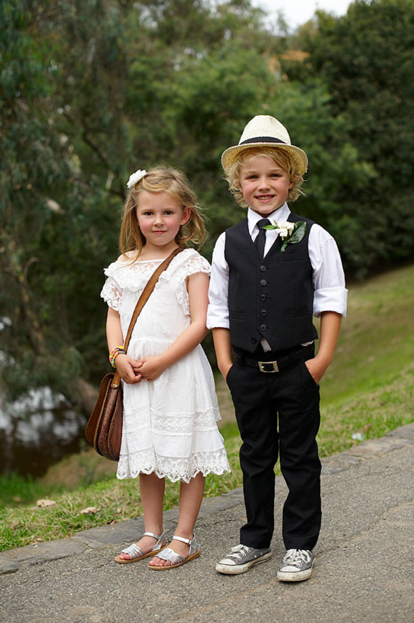 A Black and White Collette Dinnigan Dress for a Relaxed, Family Australian Wedding... ()