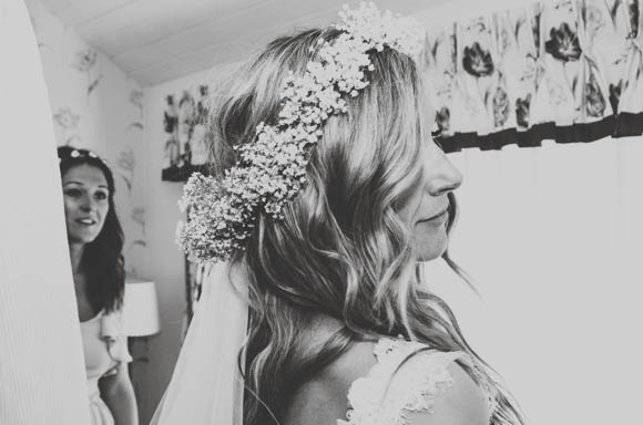 A Gypsophila Floral Crown for a Flower Fairy Inspired Bride... (Weddings )