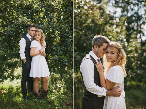 A Whirl-Wind, Intimate Apple Orchard Wedding Planned In Just 3 Weeks... (Weddings )