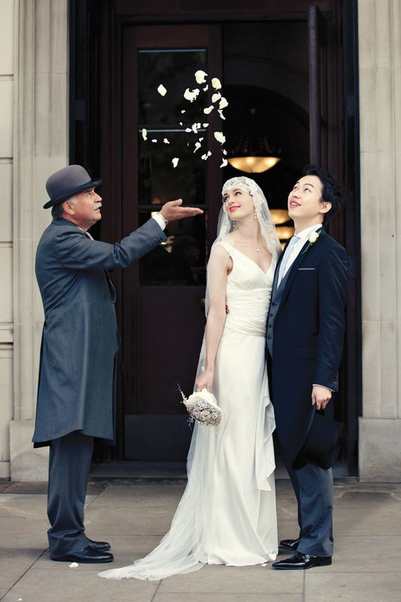 An Ugo Zaldi Wedding Dress for a 1920s and 1930s Inspired Wedding At The Lanesborough Hotel (Weddings )