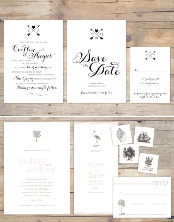 Boutique and letterpress wedding stationery, by Coquette & Press