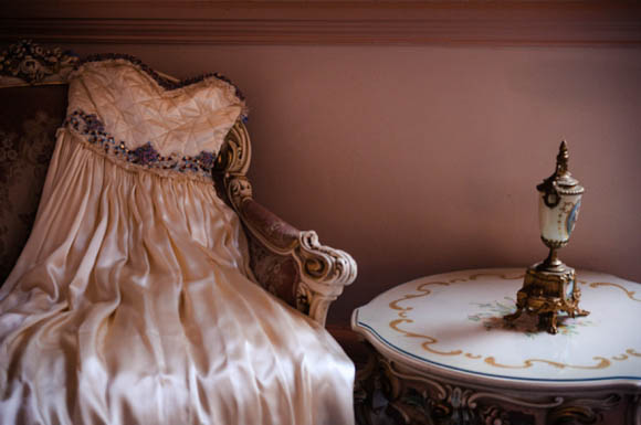 A Relaxed Afternoon Tea for a Bride in a Manoush Dress and Glittery Heels (Weddings )