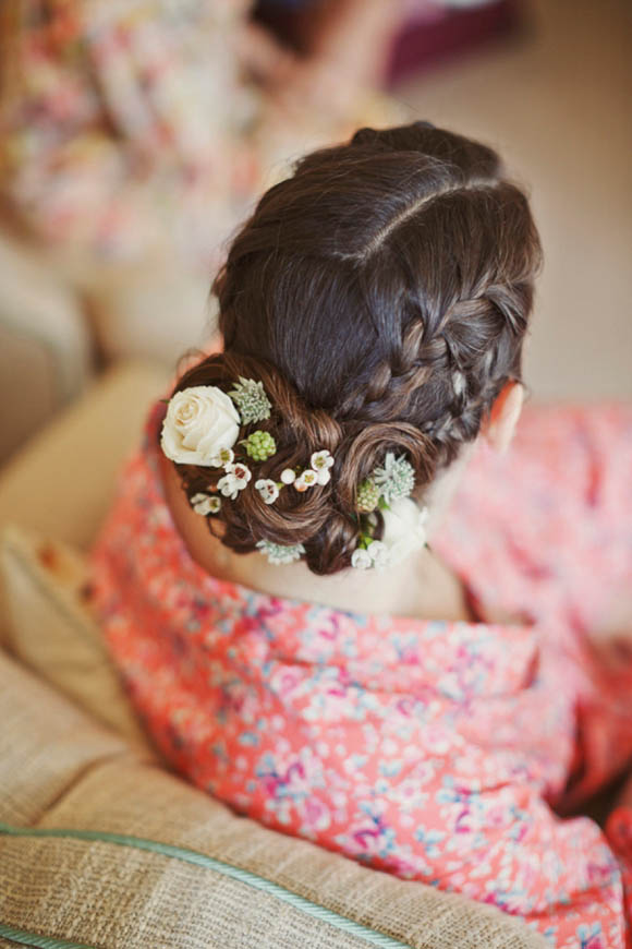 Edwardian Lace and Pretty Flowers in Her Hair ~ A Charming English Country Garden Wedding (Weddings )