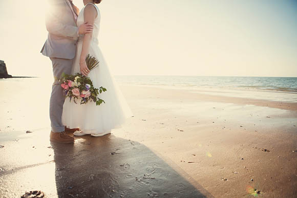 A Twirly Swirling Wedding Dress for a Sweet, Seaside Celebration... (Weddings )