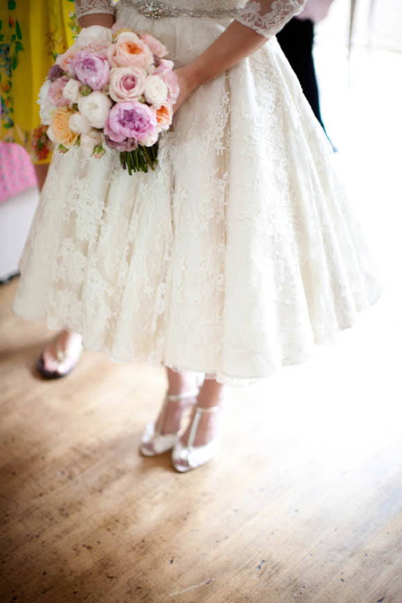 Pink Peonies and a Beautiful Bespoke Wedding Dress... (Weddings )