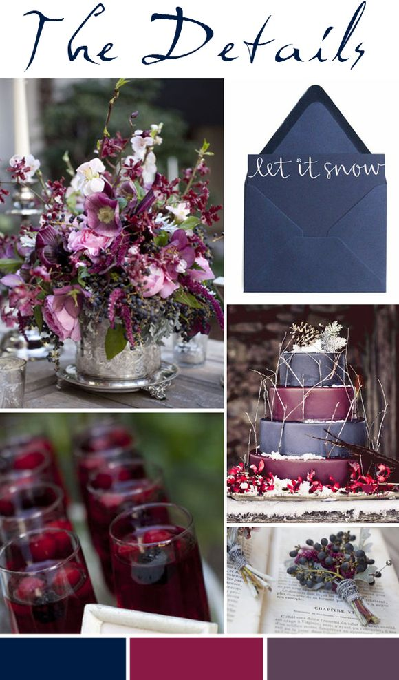 Bridal Inspiration Board #50 ~ Winter Rose (Mood + Inspiration Boards )