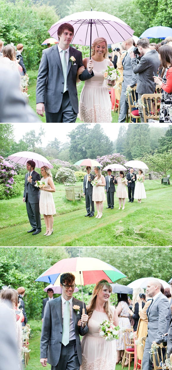 Stephanie Allin wedding dress, quirky and enchanting outdoor wedding