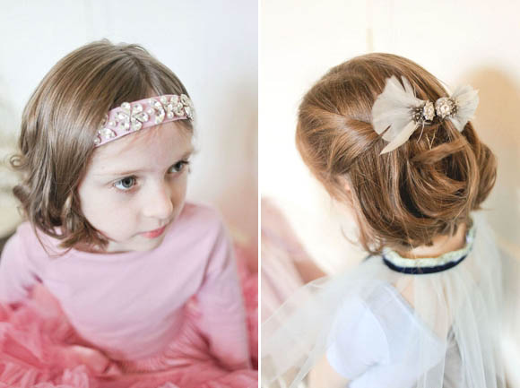 headbands and headpieces for flowergirls and bridesmaids by What Katy Did Next Photography by Sally Thurrell