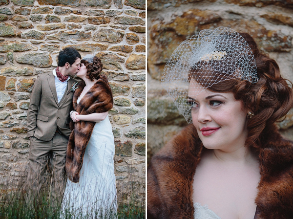 A Rustic and Vintage Inspired Winter Wedding for Two Childhood Sweethearts (Personal, Life, Love Weddings )
