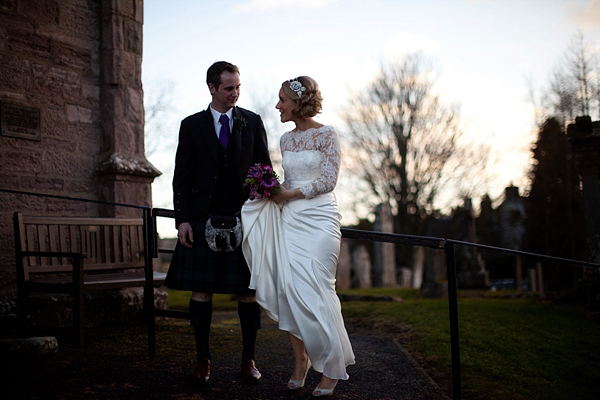 Stephanie Allin Lace For An Elegant Scottish Winter Wedding (Weddings )