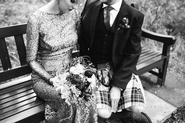 A Gold Issa Wedding Dress For A Bright And Colourful Edinburgh Wedding (Weddings )