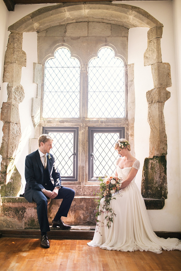 Two Wedding Dresses And a Sweet Knitted Cape For a Swallows And Amazons Inspired English Country Wedding (Weddings )