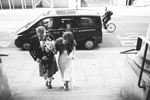 Elizabeth Filmore wedding dress, Shoreditch wedding, East London wedding, Emma Case alternative wedding photography